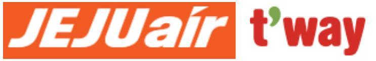 チェジュ航空とティーウェイ航空のロゴ