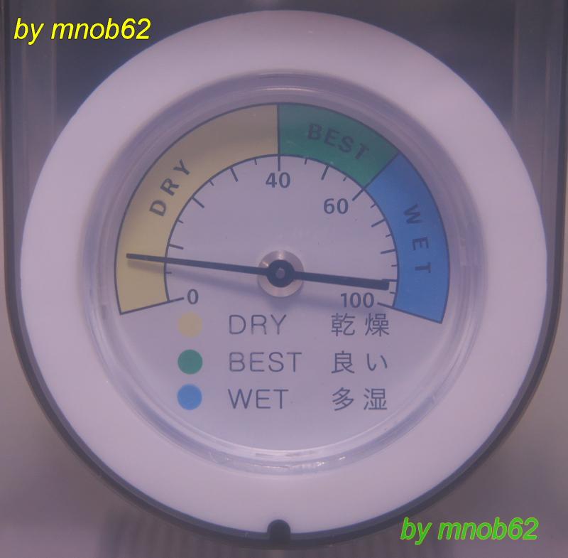 湿度計の表示