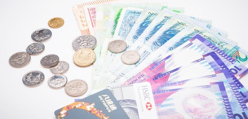 シンガポールの紙幣とコイン