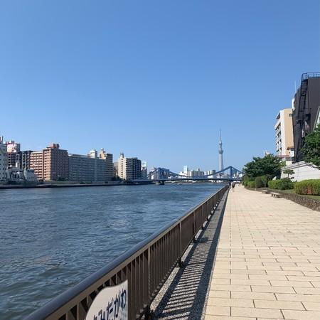 隅田川テラス 左岸 ランニング