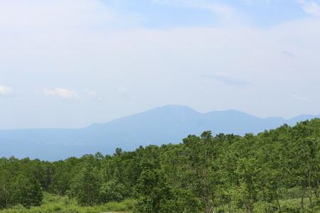野反湖(富士見峠)からの浅間山