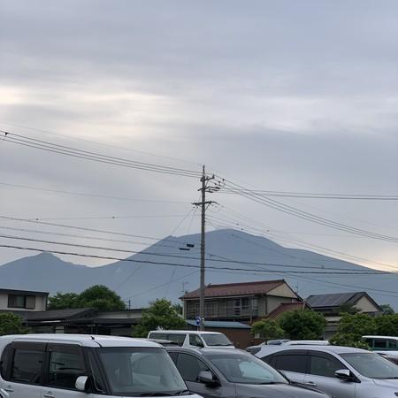 中軽井沢からの浅間山②