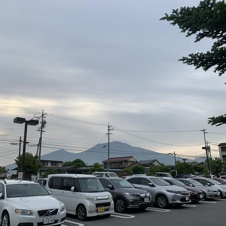中軽井沢からの浅間山