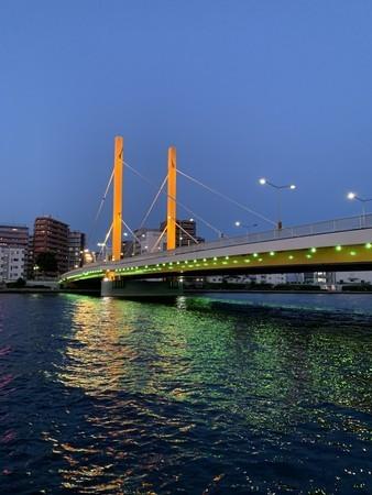 隅田川テラス右岸4キロ地点、ジョグのゴール、新大橋右岸