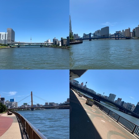 隅田川の橋 隅田大橋 清洲橋 新大橋 両国橋