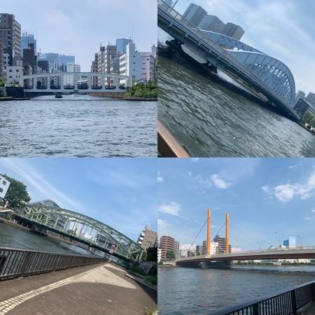 隅田川に架かる橋 豊海橋 永代橋 萬年橋 新大橋