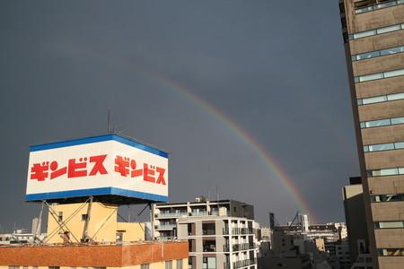 8月13日 ゲリラ雷雨後 虹