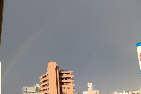 8月13日 ゲリラ雷雨後 虹 ④
