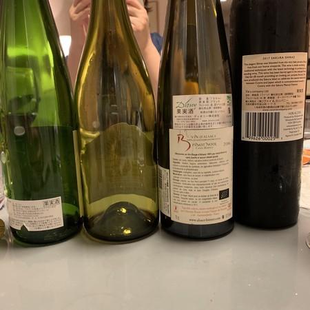 後ろ姿 美しい 今回のワイン