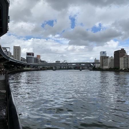 本日 大川(隅田川) 台風の影響 天候 目まぐるしく変わる