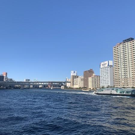 隅田川 天気良好 風強し