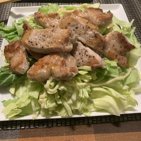 豚ロース肉 塩胡椒焼き