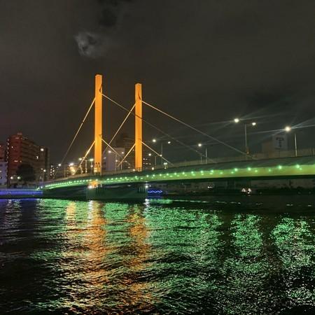 新大橋 ライトアップ