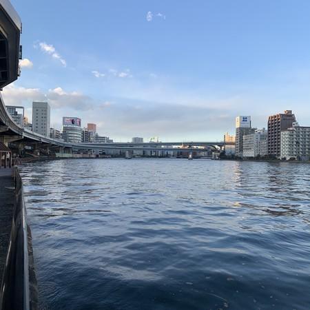隅田川河口4キロ付近より上流を望む