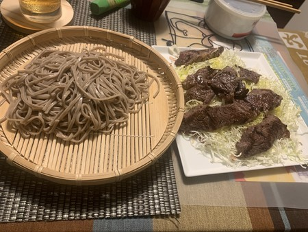 日本そば 牛ハラミ肉