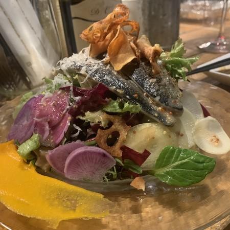 自家製オイルサーディン 冬野菜 サラダ