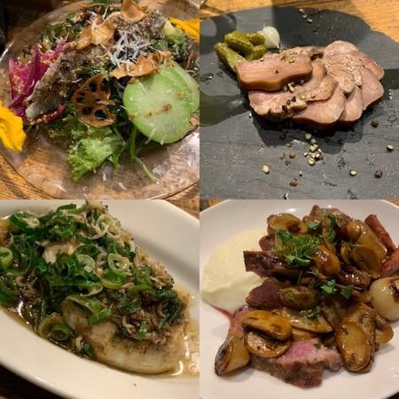 豚タン 冬野菜のサラダ 肩ロースのロティ 関商店の木綿豆腐