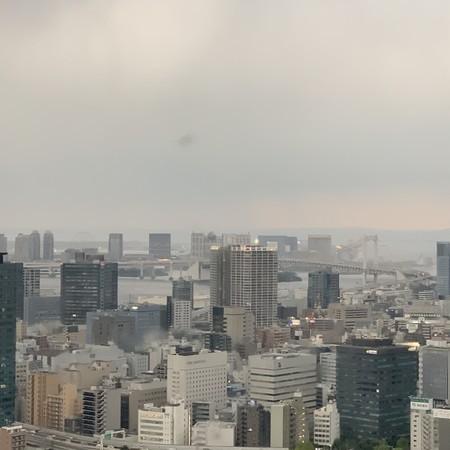 東京湾とレインボウブリッジ