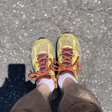 Today's running shoes: Montrail Madarao Yellow