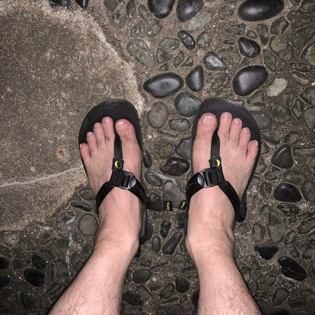 Today's running shoes: Luna Sandals