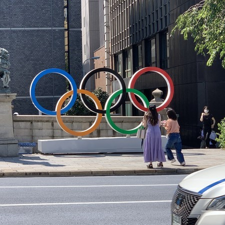 Monument to the Olympic Games in Nihombashi