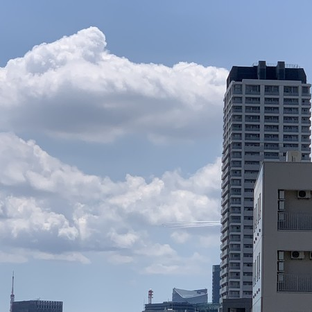 The line can be seen to the left of the high-rise apartment building Rigale.