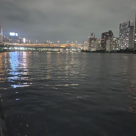 Sumida River in the direction of Ryogoku Bridge
