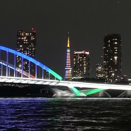 Thukiji Ohashi and Tokyo Tower