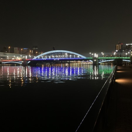 Lighting up the Komagata Bridge