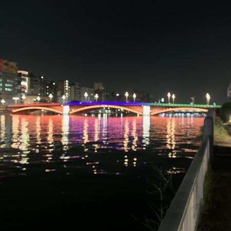 Lighting up Azuma Bridge