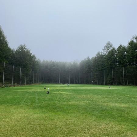 Golf practice in the rain