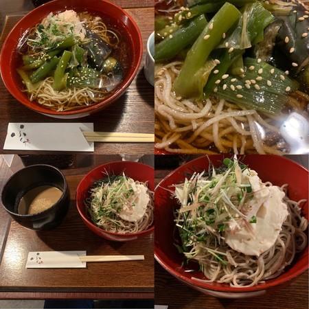 Cold soba noodles for summer