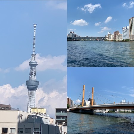 Usual scenery of the Sumida River