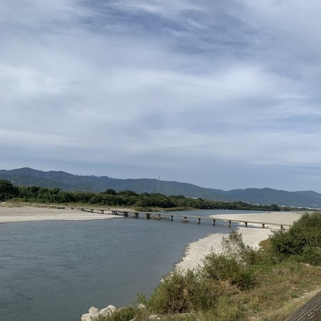 Sensui(Diving) bridge over the Yoshino River at Kawashima Town
