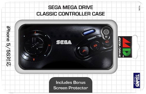 Tommo Hardware Series Mega Drive Classic Controller Silicon Case for iPhone 5/5S - Retail Packaging - Black by Tommo