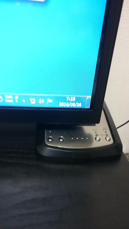 TV背面からTW-D7OPTアンプ部をセット