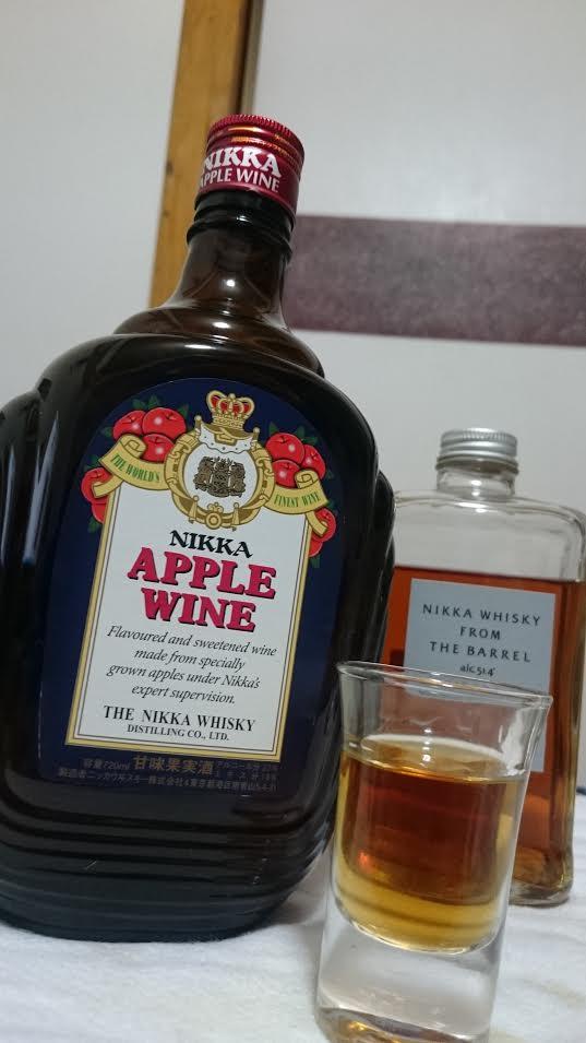 NIKKA APPLE WINEとショットグラス