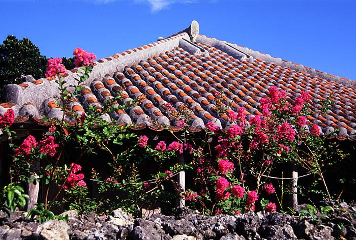 沖縄民家の屋根の素材赤瓦