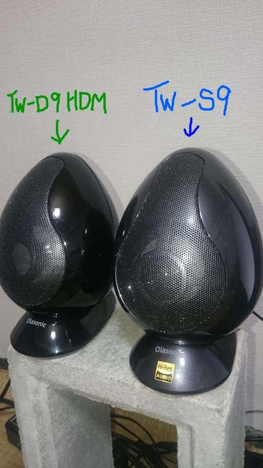 左スピーカーのTW-D9HDMとTW-S9