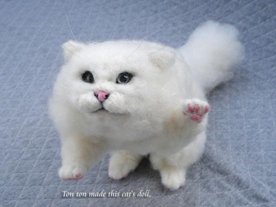 [チンチラ][猫][ネコ][ねこ][羊毛フェルト][ハンドメイド][雑貨]