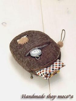 [ ポーチ][ハリネズミ][ハンドメイド][羊毛フェルト][ OLYMPUS E-501][G.ZUIKO]
