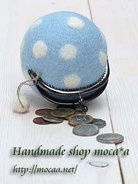 [小物][雑貨][水玉][ハンドメイド][羊毛フェルト][ OLYMPUS E-501][G.ZUIKO]