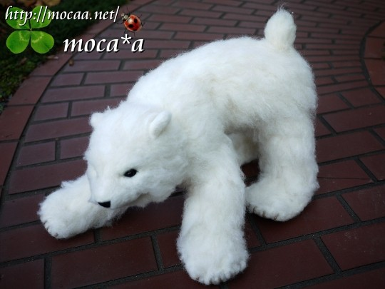 [白熊][シロクマ][モカ][テディベア][オーダーメイド][ぬいぐるみ][写真を基に][制作]