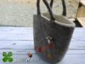 [トートバッグ][クリスマスプレゼント][モカ][羊毛フェルト]