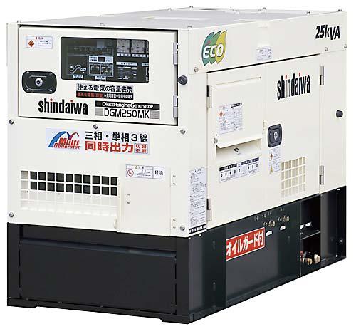 新型の大型の発電機発電機レンタル開始