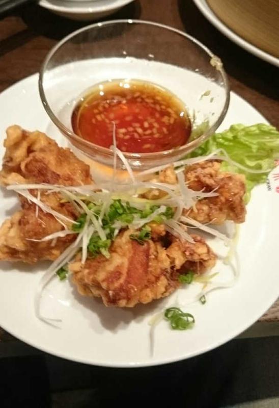 上海湯包小館の油淋鶏
