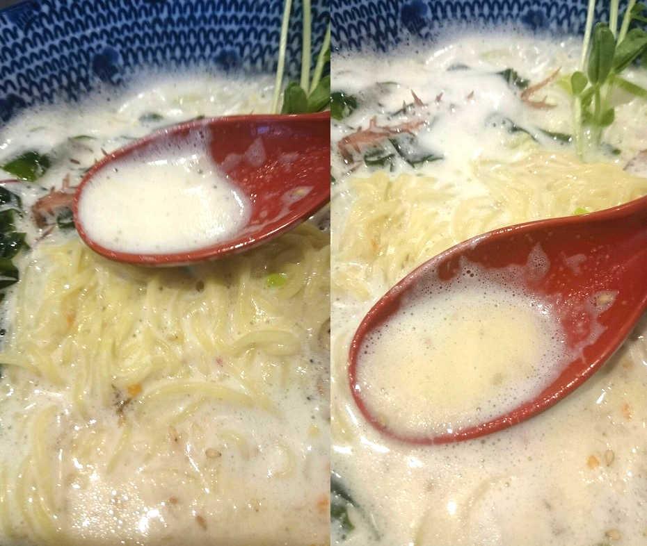 泡卵塩ラーメン 麵屋蕾