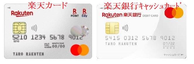 楽天カード 楽天銀行 似てる