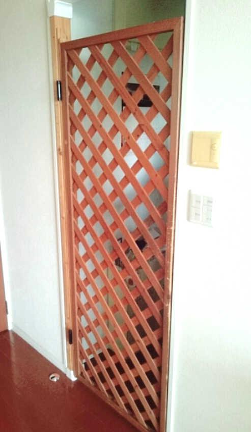 猫脱出防止柵 ねこ脱出防止扉 ネコ侵入防止扉