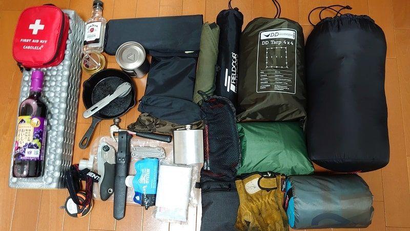 キャンプツーリング 荷物